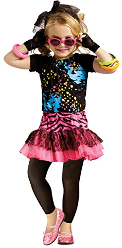 Girls 80'S Pop Party Kids Child Fancy Dress Party Halloween Costume