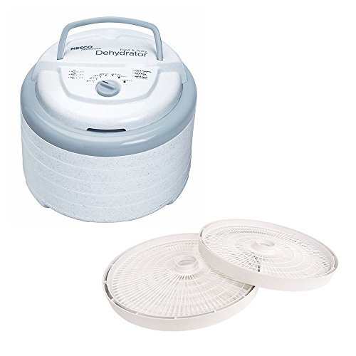 Nesco Snackmaster Pro Food Dehydrator, 600-Watt, FD-75PR and LT-2SG Add-A-Tray for FD-61/FD-61WHC/FD-75A and FD-75PR Dehydrators Set 2 (Nesco Fs250 compare prices)