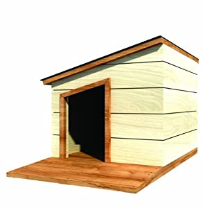 36 x 34 dog house plans lean to roof pet size to 100