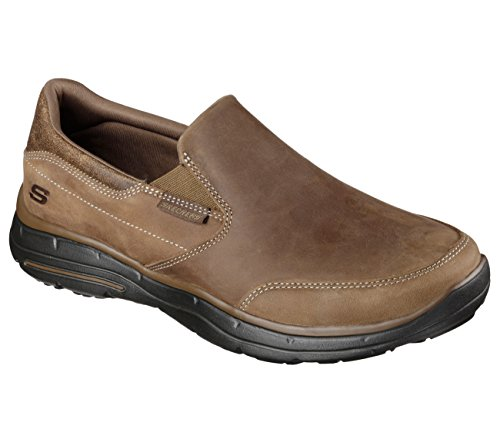 Skechers Men's Relaxed Fit Glides Calculous Slip On,Desert,US 11 M
