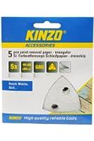 Kinzo 71731 5 Triangles Papier abrasif pour décapage peinture 90 x 90 x 90 mm G80