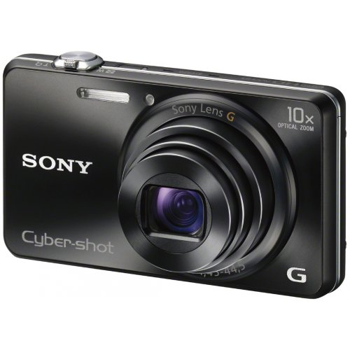 Sony DSCWX200 Digital Compact Camera with Wi-Fi - Black (18MP, 10x Zoom)