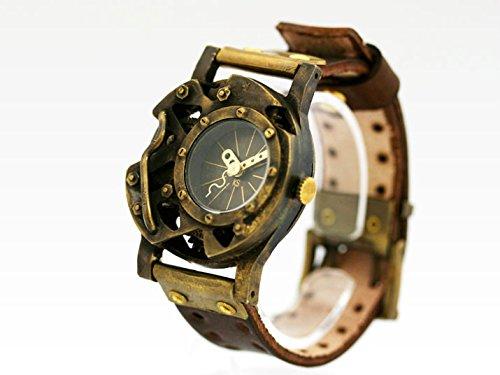 スチームパンク風デザインの腕時計「DEAD LAND IV」 時計作家KS(篠原康治) 手作り時計のJHA(ブラウン)