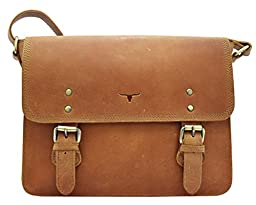 UF 15'' Buffalo Unisex Satchel Vintage leather messenger bag shoulder best Handbag Crossbody best sling bag Purse Everyday Bag