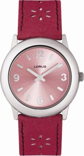 Lorus Ladies Round Pink Dial Watch LR1017