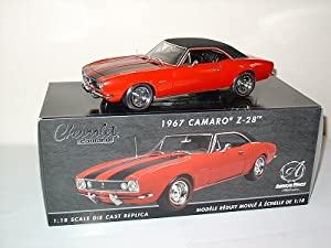 #33272 Ertl RC2 American Muscle Authentics 1967 Camaro Z-28 1/18TH Scale Diecast Car