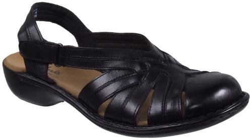 Clarks Women's Ina Charm Sandal,Black Leather,7 N US
