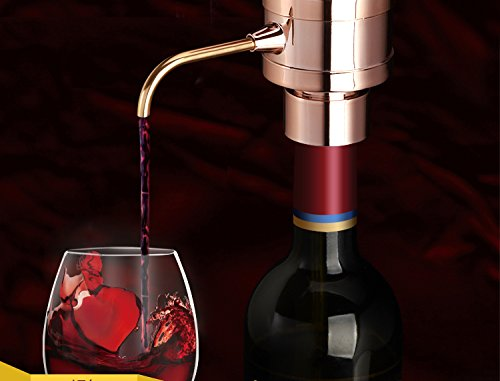 Electric Wine Aerator Pump and Dispenser - Pumps and Aerates Any Type of Wine - NutriChef PSLWPMP50