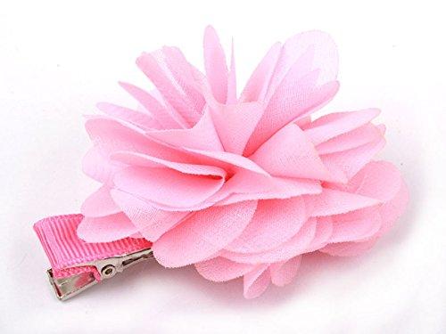 花 ヘアピン ピンク 大人子ども学生 髪飾り フラワー