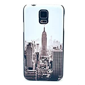 Famous New York Building Pattern Hard Case Cover for Samsung Galaxy S5 I9600 in Multi Colour