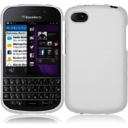 Cell Accessories For Less (Tm) For Blackberry Q10 Rubberized Cover Case - White - By Thetargetbuys *Free Shipping*