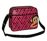 Paul Frank Julius Monkey Despatch Messenger Shoulder Bag - Pink & Black Spots
