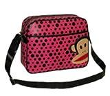 Paul Frank Julius Monkey Despatch Messenger Shoulder Bag - Pink & Black Spots