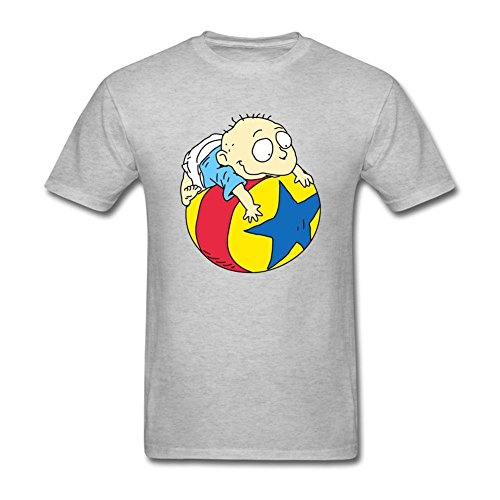 SUNRAIN Men's Rugrats Tommy Drawing T Shirt (Megaman Drawing compare prices)