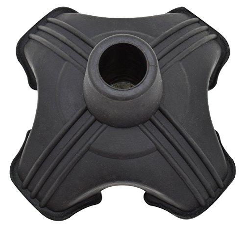 Secure Self Standing Quad Support Cane Tip Black Fits 3