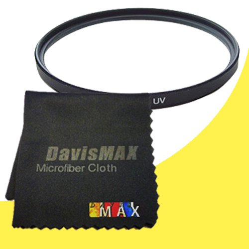 49Mm Uv Filter For Sony Alpha Nex-5R With Sony 50Mm F/1.8 Telephoto Lens + Davismax Fibercloth Filter Bundle