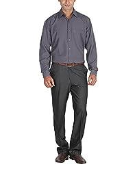 LAGNESH Men's Long Sleeve Shirt (Grey, 38)