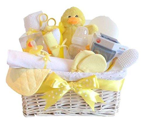 Signor Ducky grande Deluxe Unisex per cestino regalo/per neonato, baby shower Regalo/nuovo arrivo/Ricordi per bambino/spedizione veloce