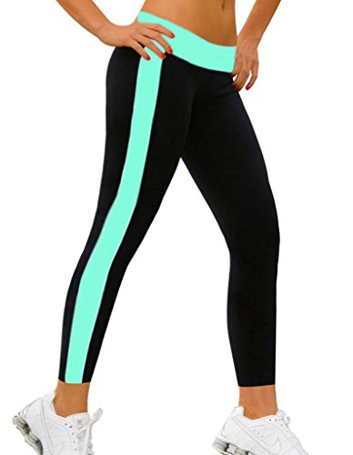 4How Womenu0026#39;s Tight Capri Ankle Workout Leggings Tiffany Blue Small Size Apparel Accessories ...