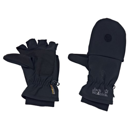 Jack Wolfskin SOFTSHELL ALPINE GLOVE black