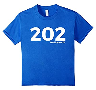 Washington, D.C. Area Code 202 Local Pride T-Shirt