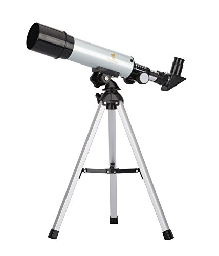 GEERTOP® 90X Portable Astronomical Refractor Telescope, 360X50mm, For Kids Sky Star Gazing & Birds Watching