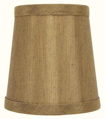 Bronze Silk Laminated Mini Lamp Shades Clip on Drum Chandelier Shades