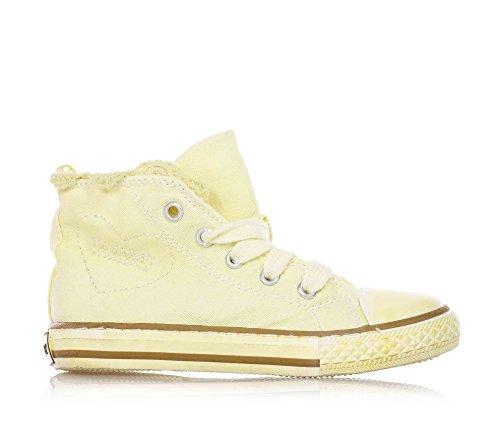 TWIN-SET - Sneaker gialla, giallo, scarpa, sneakers, in tessuto, stringata, alla moda, firmata, Donna, ragazza e ragazze, Bambina-23