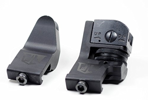 45 Degree Offset Backup Iron Sights By Ozark Armament for AR Style Rifles Picatinny Mount (Backup Iron Sights compare prices)