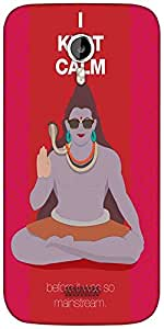 Snoogg Shiva He Kept Calm Designer Protective Back Case Cover For Micromax A116