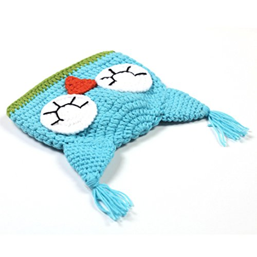 Wensltd Knitting Newborn Baby Gift Cute Owl Cloak Hat Costume Outfit Set