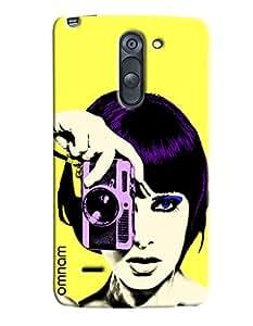 Omnam Girl Taking Pic Designer Back Cover Case for LG G3 Stylus