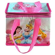 Disney Princess Insulated Lunch Bag Pink Tote 7&quot;x8&quot;x5&quot;