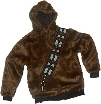 Chewbacca Costume -- Star Wars Hoodie Zipper-Fleece Youth/Juvenile Sweatshirt, Juvy Large (7)