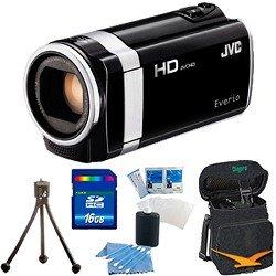 JVC GZ-HM450US Full HD Memory Camcorder (Black) - 16 GB Memory Bundle