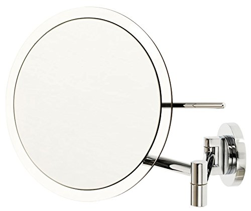 Danielle Enterprises Wall Mount Rimless Mirror, 5X Magnification, Silver