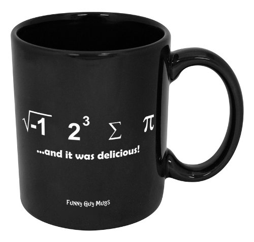 Funny Guy Mugs I Ate Some Pi And It Was Delicious Ceramic Coffee Mug, Black, 11-Ounce