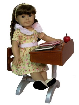 1930 Style School Desk for 18 Inch Dolls Like American Girl PLUS Accessories
