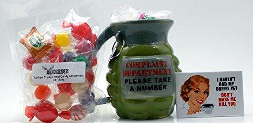 Yankee Traders Novelty Mug Gift Set, Grenade Mug, Candy & Fun Magnet