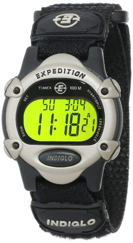 Timex Unisex T47852 Expedition Digital Black Fast Wrap Velcro Strap Watch front-496166