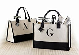 Mud Pie C-Initial Canvas Tote by Featured Brands 26