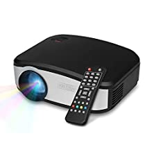 "buy Soldcrazy X6 1000 Lumens 130"" Great Entry Level Mini Led Lcd Projector For For Home Theater Cinema Movie Night Video Tv Gaming 800X480 Pixels Hdmi/Usb/Vga/Av/Atv/Mhl Balck"
