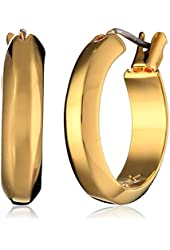 """Trina Turk """"Urban Nomad"""" Gold-Plated Small Hoop Earrings"""
