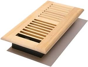 Decor grates wlba414 u wood louver floor for Wood floor registers 6 x 14