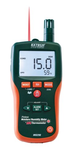 Extech MO290 Pinless Moisture Meter + IR Thermometer