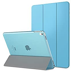 iPad Pro 9.7 Case - MoKo Ultra Slim Lightweight Smart-shell Stand Cover with Translucent Frosted Back Protector for Apple iPad Pro 9.7 Inch 2016 Release Tablet Light BLUE with Auto Wake Sleep