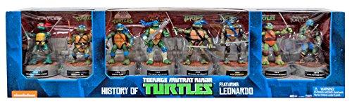 Teenage Mutant Ninja Turtles Nickelodeon History of Teenage Mutant Ninja Turtles Leonardo Action Figure 8-Pack