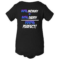 50% Mommy Plus 50% Daddy One Piece Romper Baby Bodysuit