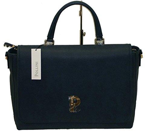 borsa cartella lavoro POLLINI SC4540 con tracollina regolabile blu
