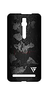 Vogueshell World map Printed Symmetry PRO Series Hard Back Case for Asus Zenfone 2